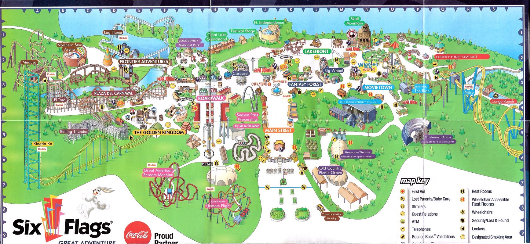 Six Flags 2008 Map