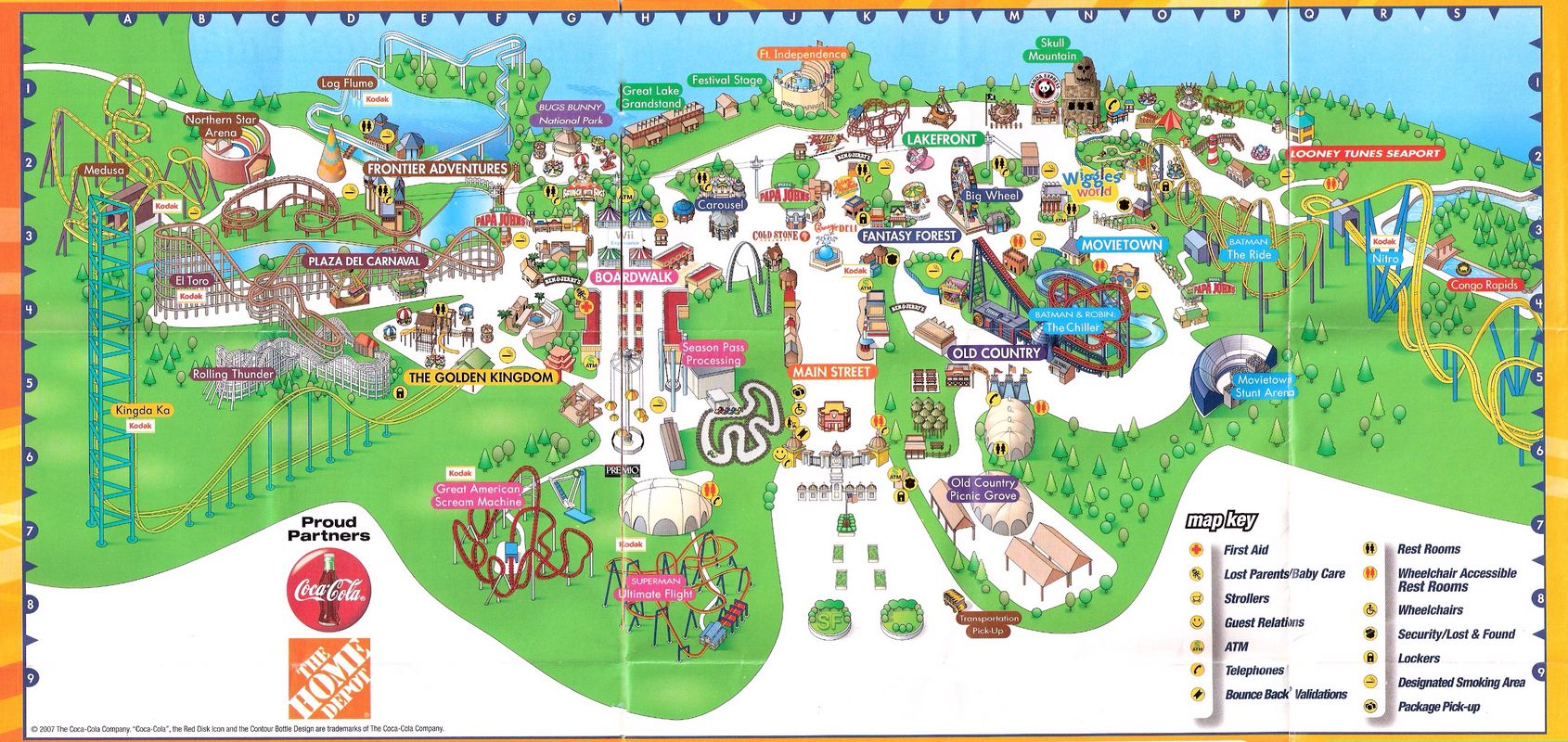 Six Flags 2007 Map