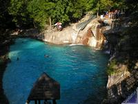 The grotto pool in Roaring Springs