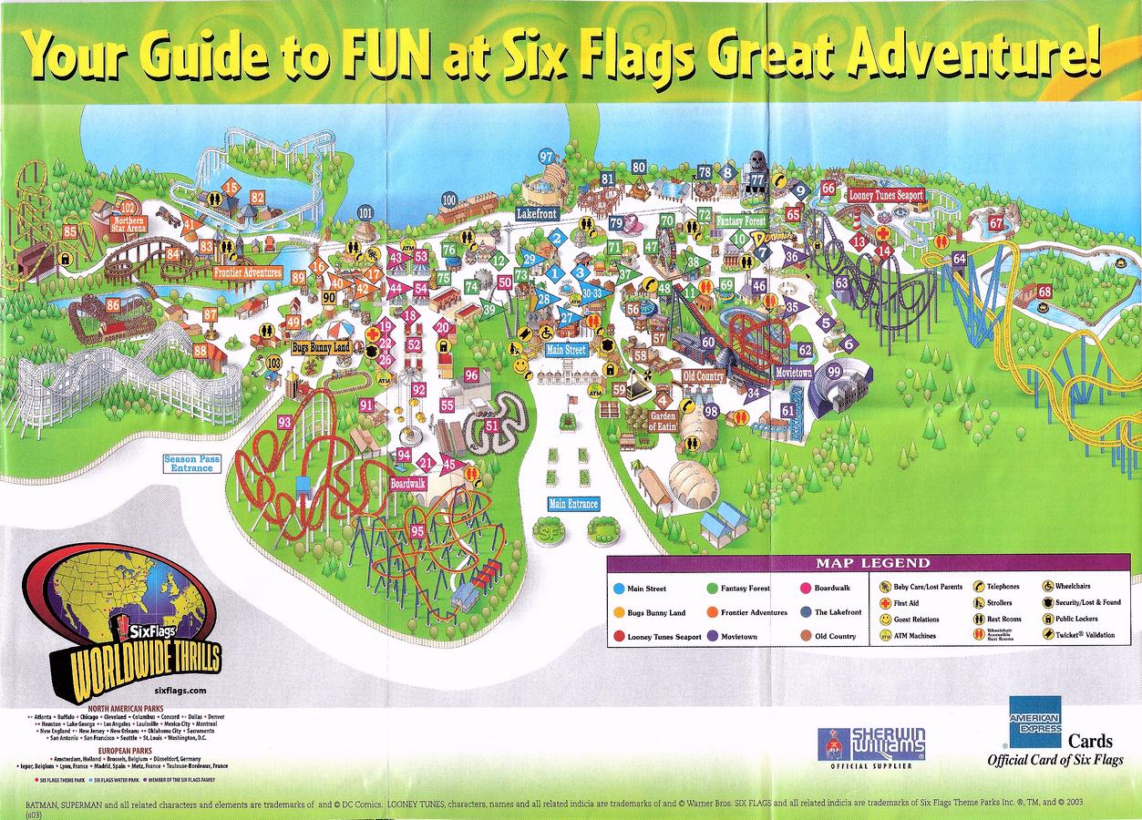 stravaganza Week 13: SF Great Adventure 2003 | The DoD3 on six flags nj map, magic springs and crystal falls map, dorney park map, washington street mall map, kingda ka map, mt. olympus water & theme park map, kiddieland map, kennywood map, holiday world santa claus indiana map, the gallery at market east map, penn hills resort map, knott's berry farm map, magic kingdom map, 2014 six flags magic mountain map, great america map, cedar point map, thorpe park map, wyandot lake map, big e fair map, 2014 six flags over georgia map,