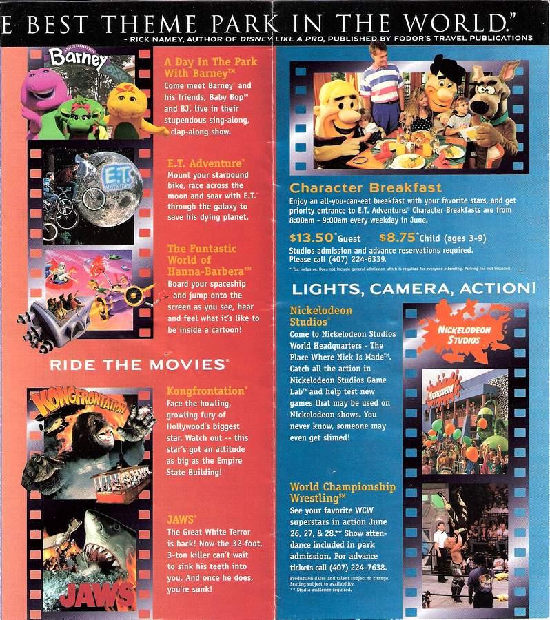 Park Map Universal Studios Florida 1998 The Dod3