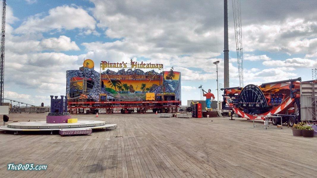 Casino pier roller coaster