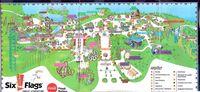 Six Flags 2008 map