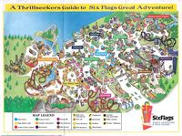 Six Flags 1999 map