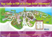 Six Flags 2004 map