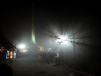 Headstone Hollow's queue in the fog
