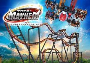Total Mayhem Six Flags Great Adventure 2016