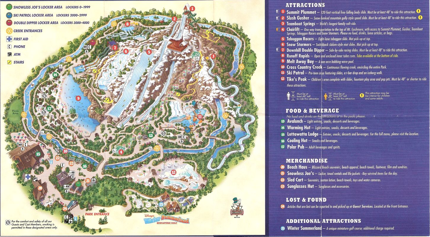 Disney Blizzard Beach Map The Best Beaches In The World