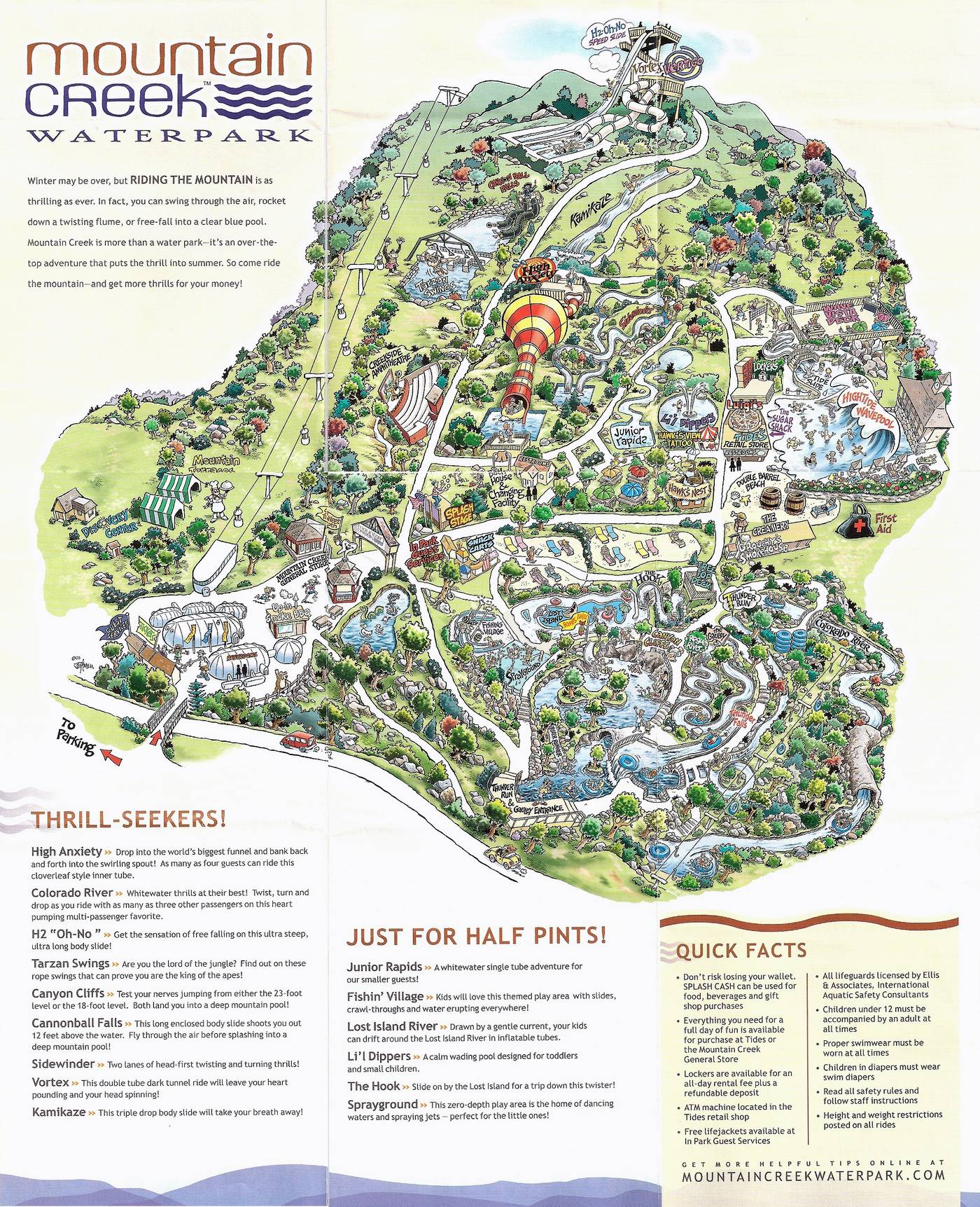 Mountain Creek Water Park Map Crapstravaganza Week 9: Winter Waterpark Week | The DoD3 Mountain Creek Water Park Map